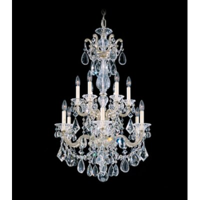 La Scala 12-Light Crystal Chandelier Finish / Crystal Color: Antique Silver / Swarovski Clear