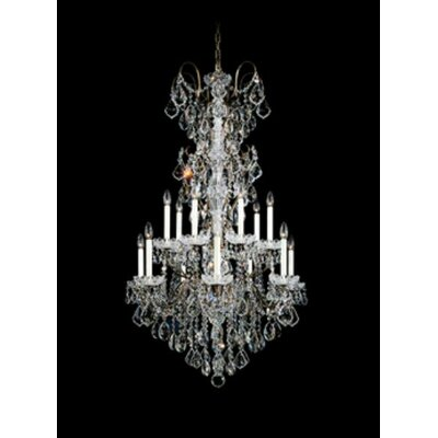 New Orleans 14-Light Crystal Chandelier Finish / Crystal Color: Polished Silver / Strass Clear