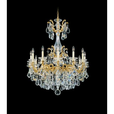 La Scala 12-Light Crystal Chandelier Finish / Crystal Color: Heirloom Gold / Swarovski Clear