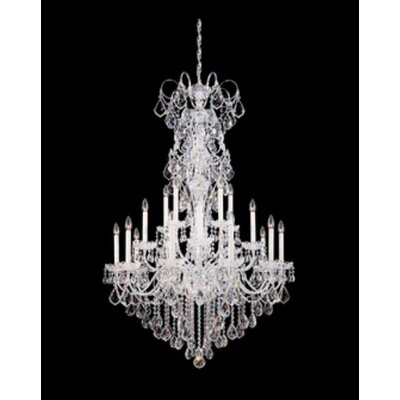 New Orleans 20-Light Candle-Style Chandelier Finish / Crystal Color: Polished Silver / Strass Clear