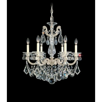 La Scala 6-Light Candle-Style Chandelier Finish / Crystal Color: Antique Silver / Strass Clear