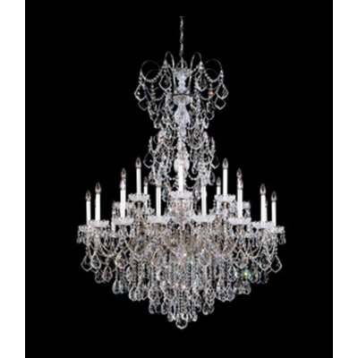 New Orleans 24-Light Candle-Style Chandelier Finish / Crystal Color: Polished Silver / Strass Clear