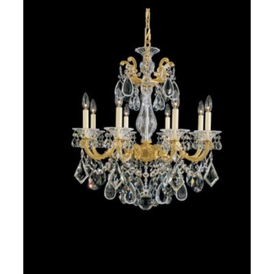 La Scala 8-Light Candle-Style Chandelier Finish / Crystal Color: Heirloom Gold / Swarovski Clear