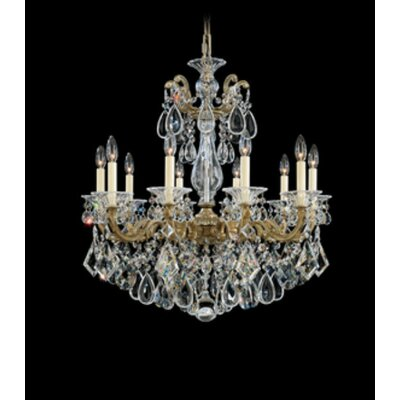 La Scala 10-Light Candle-Style Chandelier Finish / Crystal Color: Parchment Bronze / Spectra Crystal