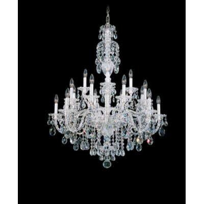 Sterling 20-Light Candle-Style Chandelier Finish: Polished Silver, Crystal Color: Handcut Heritage