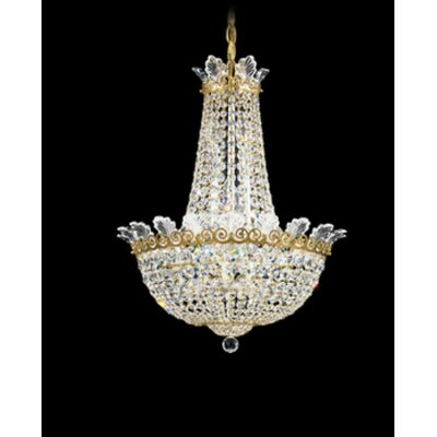Roman 10-Light Empire Chandelier Finish: Antique Silver, Crystal Color: Strass Clear