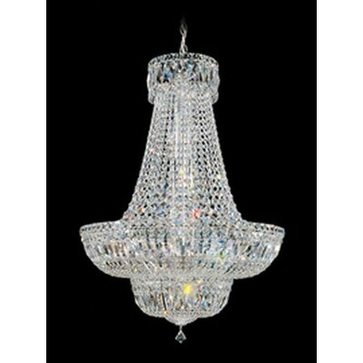 Petit Crystal Deluxe 16-Light Empire Chandelier Size / Color / Crystal Color: 31 H x 21 W x 21 D / Silver / Gem Clear