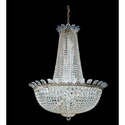 Roman 28-Light Empire Chandelier Finish: Polished Silver, Crystal Color: Strass Clear