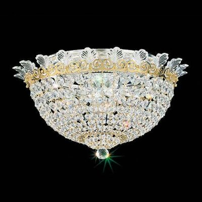 Roman Empire 6-Light Flush Mount Finish: Heirloom Gold, Crystal Grade: Strass Clear