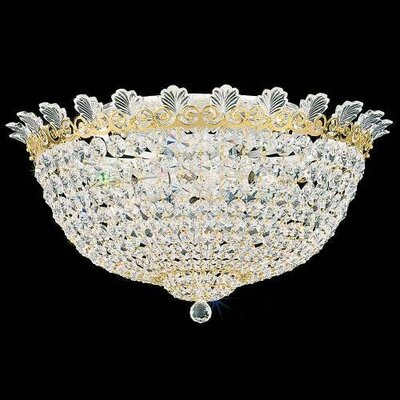 Roman Empire 10-Light Flush Mount Finish: Antique Silver, Crystal Color: Strass Clear