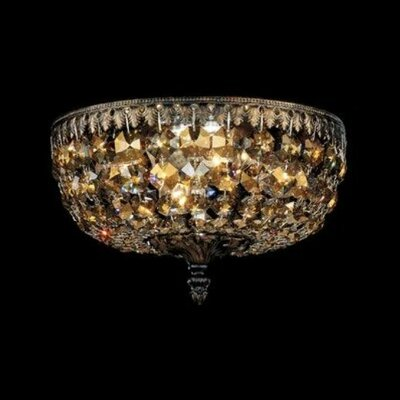 Rialto 4-Light Flush Mount Finish / Crystal Grade: Heirloom Bronze / Strass Clear