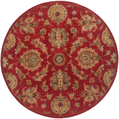 Serene Hand-Woven Red Area Rug