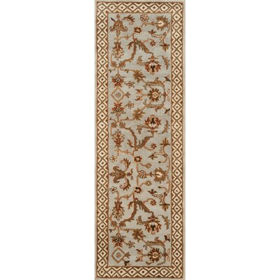 Serene Light Blue/Beige Area Rug Rug Size: Runner 26 x 8