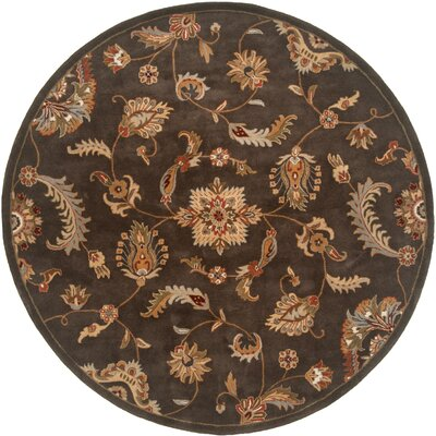 Serene Handmade Charcoal Area Rug Rug Size: Round 79
