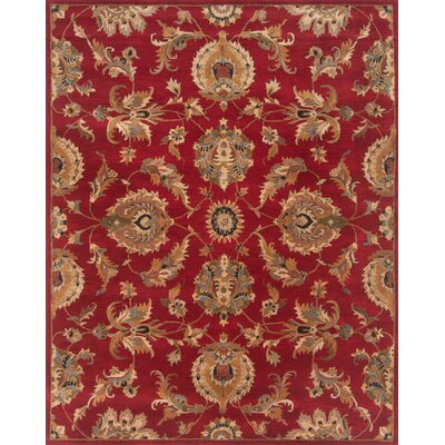 Serene Handmade Red Area Rug Rug Size: Round 79