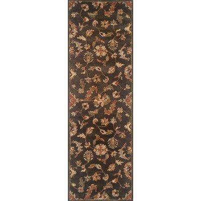 Serene Handmade Charcoal Area Rug Rug Size: Runner 26 x 10