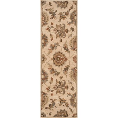 Serene Handmade Beige Area Rug Rug Size: Rectangle 36 x 56