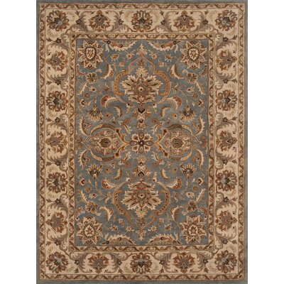Meadow View Handmade Blue/Beige Area Rug Rug Size: Rectangle 36 x 56