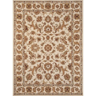 Meadow View Handmade Ivory Area Rug Rug Size: 36 x 56