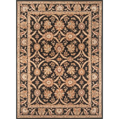 Meadow View Handmade Black/Black Area Rug Rug Size: Rectangle 36 x 56