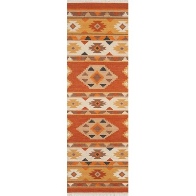 Lodge Hand-Woven Rust Area Rug Rug Size: 2 x 3