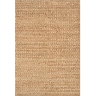 Hand-Woven Light Brown Area Rug Rug Size: Rectangle 36 x 56