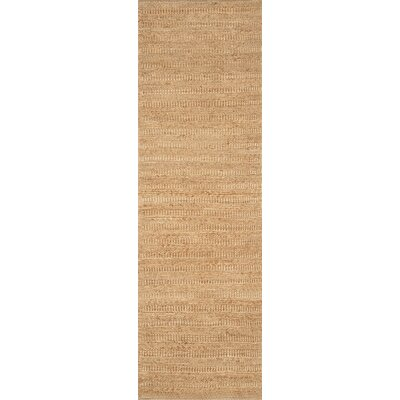Hand-Woven Light Brown Area Rug Rug Size: Runner 26 x 8
