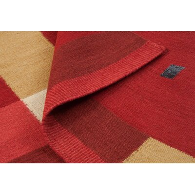 Nouveau Hand-Woven Red Area Rug Rug Size: 5 x 8