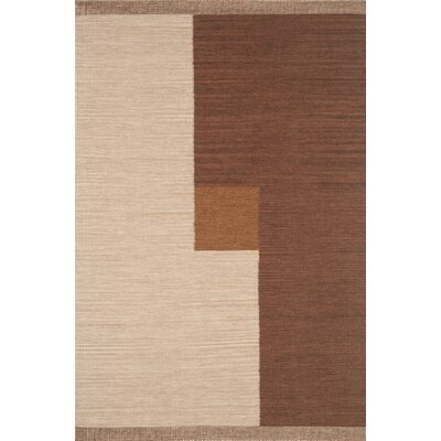 Nouveau Hand-Woven Brown Area Rug Rug Size: 5 x 8