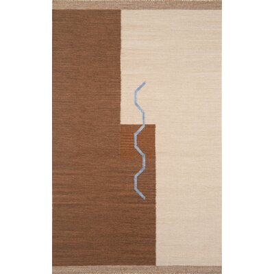 Nouveau Hand-Woven Brown/Blue Area Rug Rug Size: 8 x 11