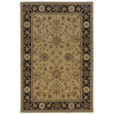 Silk Pearl Sand/Black Area Rug Rug Size: Runner 26 x 8