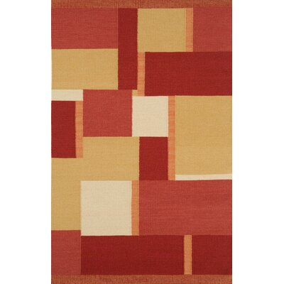 Nouveau Dark Red Contemporary Rug