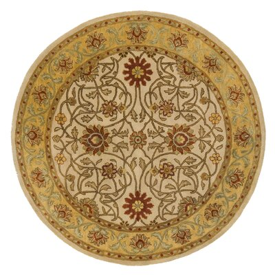 Meadow Breeze Beige Rug Rug Size: Round 6