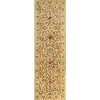 Meadow Breeze Beige Rug Rug Size: Runner 26 x 8