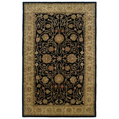 Meadow Breeze Black Border Rug Rug Size: Rectangle 4 x 6