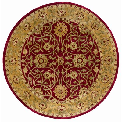 Meadow Breeze Red Rug Rug Size: Round 6