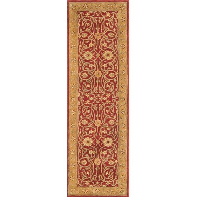 Meadow Breeze Red Rug Rug Size: Runner 3 x 12