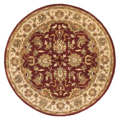 Meadow Breeze Burgundy Rug Rug Size: Round 10