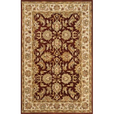 Meadow Breeze Burgundy Rug Rug Size: 4 x 6