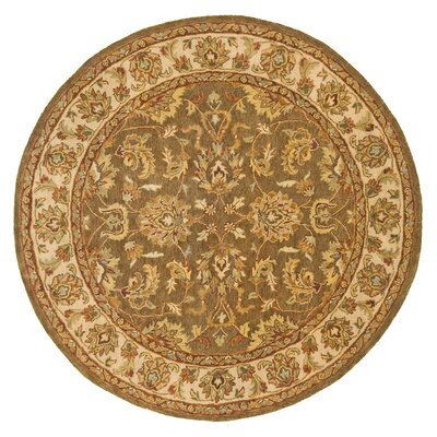 Meadow Breeze Cocoa Rug Rug Size: Round 6