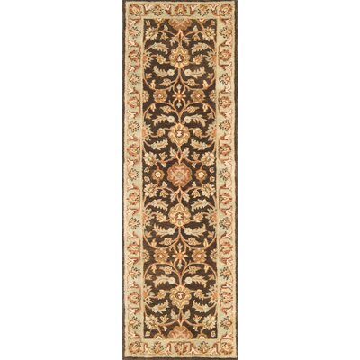 Meadow Breeze Brown/Light Spruce Rug Rug Size: Runner 26 x 8