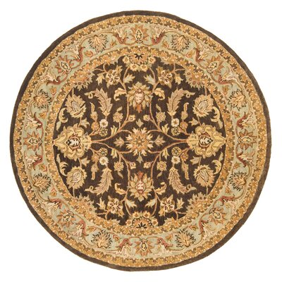 Meadow Breeze Brown/Light Spruce Rug Rug Size: Round 6