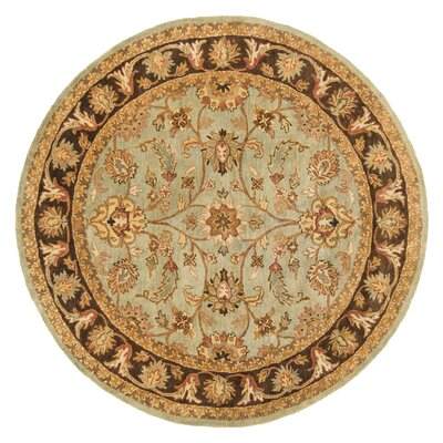 Meadow Breeze Light Spruce/Brown Rug Rug Size: Round 6
