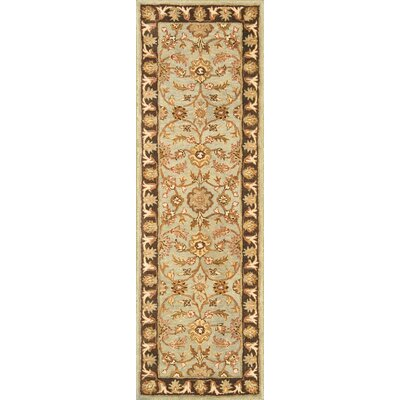 Meadow Breeze Light Spruce/Brown Rug Rug Size: Runner 26 x 8