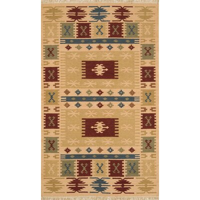 JiJum Natural Area Rug Rug Size: Rectangle 5 x 8