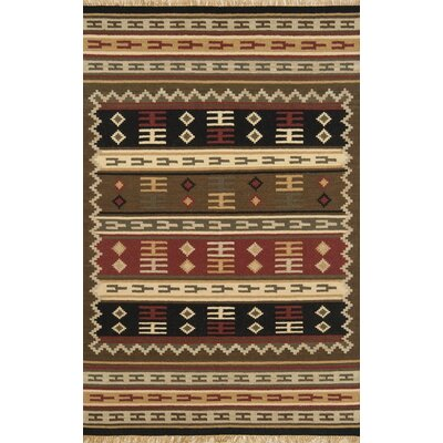 JiJum Hand-Knotted Wool Brown Area Rug Rug Size: Rectangle 8 x 11