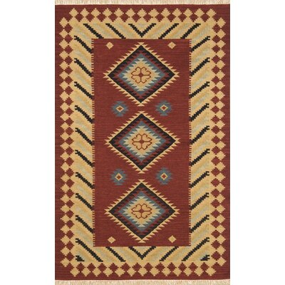 JiJum Maroon Rug Rug Size: Rectangle 5 x 8