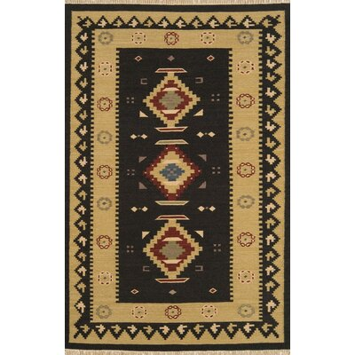 JiJum Black Rug Rug Size: Rectangle 5 x 8