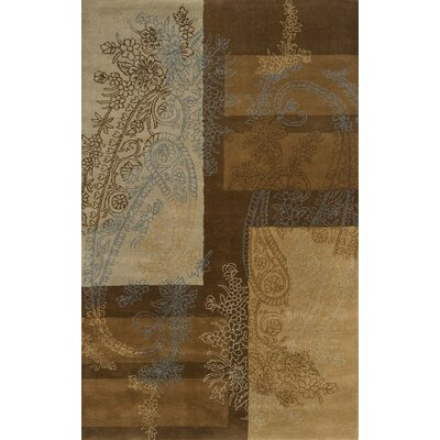 Edge Brown Area Rug Rug Size: 5 x 8