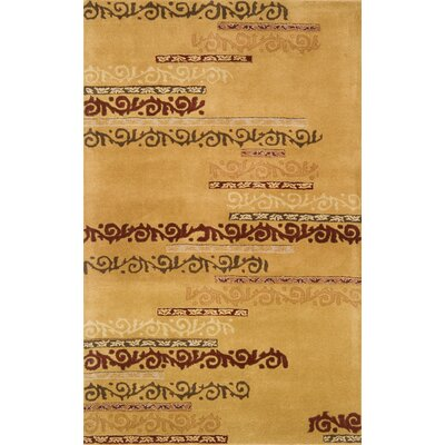 Edge Gold Area Rug Rug Size: 8 x 11